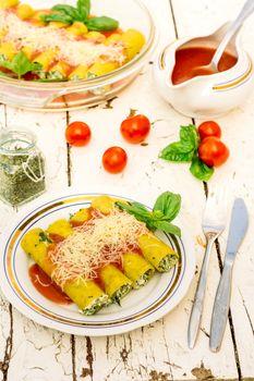 Vegetarian cannoli