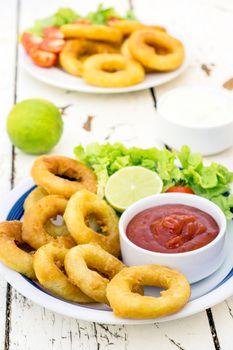 Fried squid