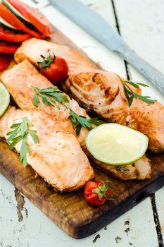 Prepared salmon fish
