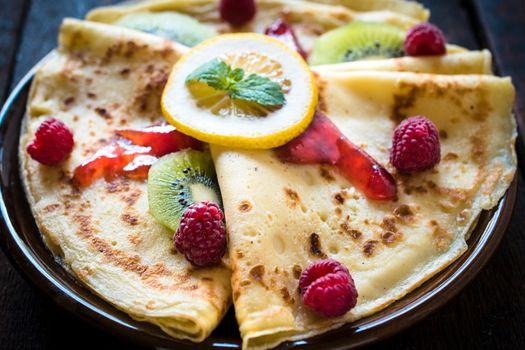 Close up to pancakes