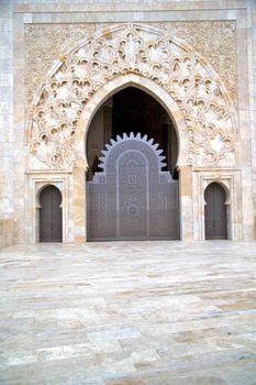 historical in  antique building door marble