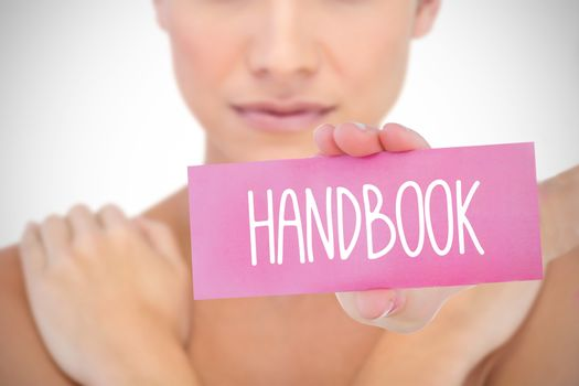 Handbook against white background with vignette