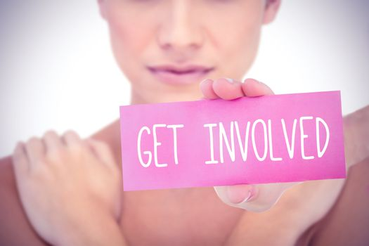 Get involved against white background with vignette