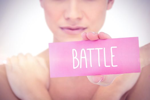 Battle against white background with vignette