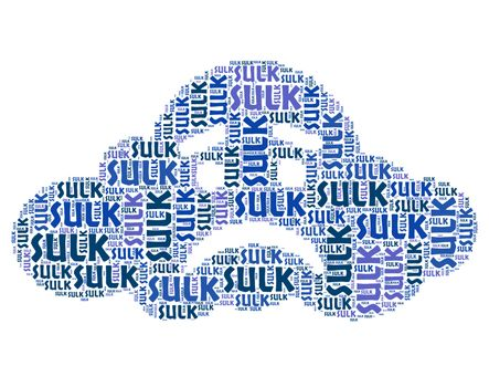 Sulk Word Represents Words Pout And Resentful