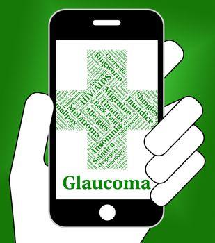 Glaucoma Illness Shows Optic Nerve And Affliction