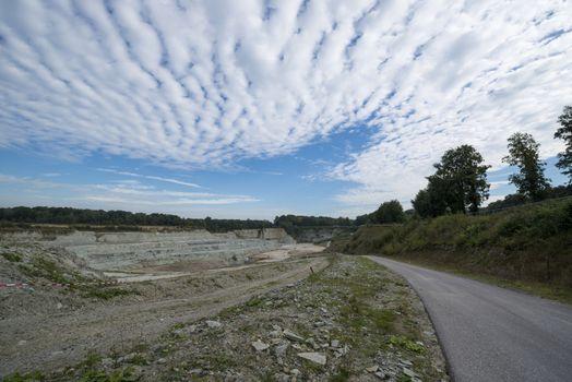 Quarry in Winterswijk in the Netherlands