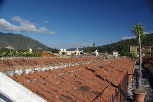 Roofs in Antigua, Guatemala