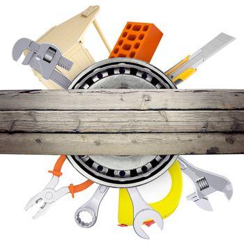 Hand tools with bricks