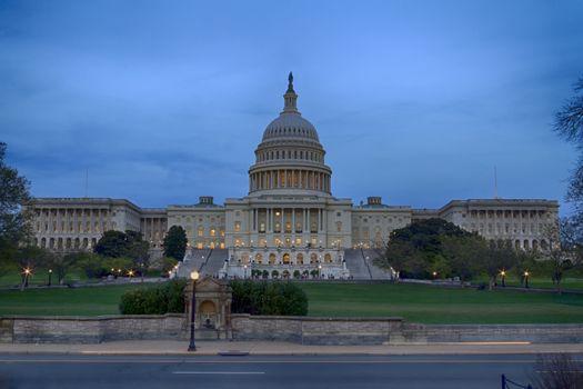 US Congress at Dusk