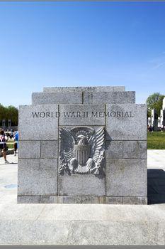 WWII Stone Plaque Memorial
