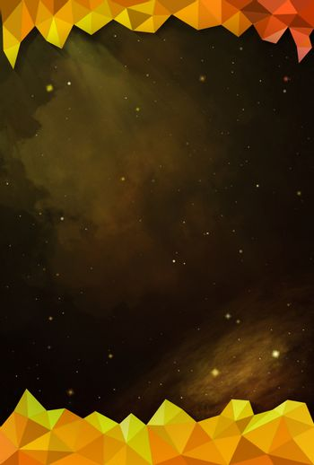 Colorful Cosmos - Yellow - with Header and Footer