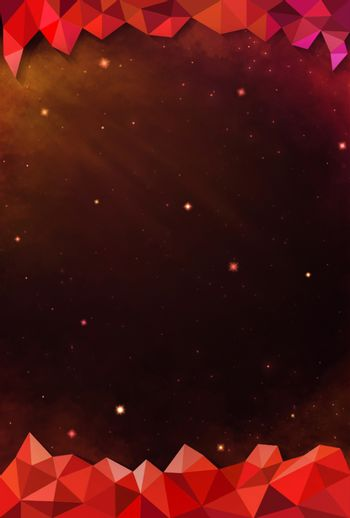 Colorful Cosmos - Red - with Header and Footer