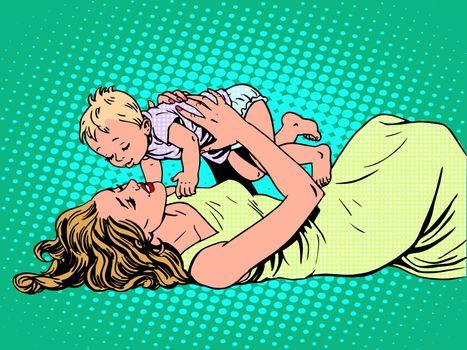 Mother child childhood motherhood happy