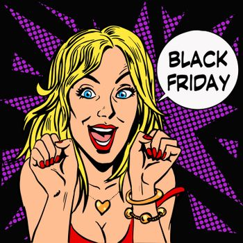 Black Friday shopper pleasure women