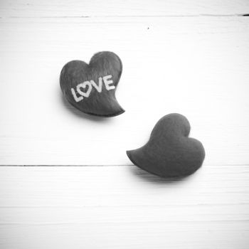 heart black and white tone color style