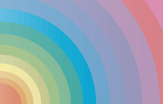 A circular array of bright colours as a fashion background