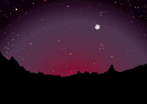 desert sunset skyline
