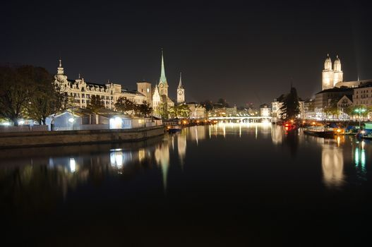 Zürich at dark night