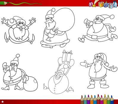 christmas themes coloring book