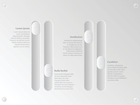 Cool slider infographic with options