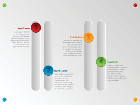 Cool color slider infographic with options
