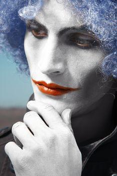 Pensive clown