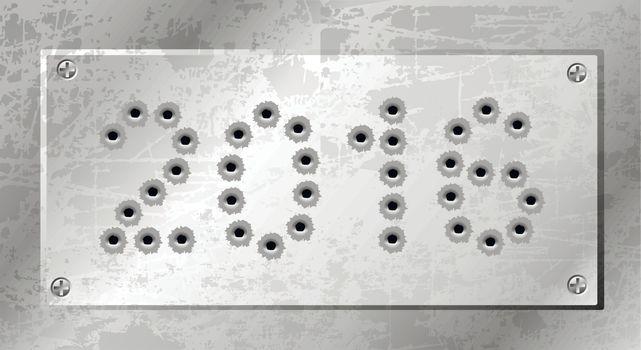 2016 of gun bullets holes