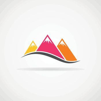 Three mountains. Vector illustration