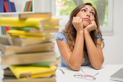 Bored Student Girl