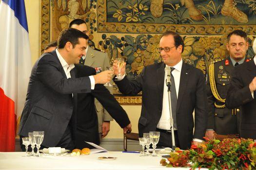 GREECE - POLITICS - FRENCH PRESIDENT VISITS