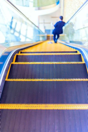 The escalator or moving staircase in modern architecture