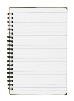 Copybook on white