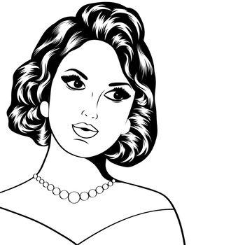 Pop Art illustration of woman