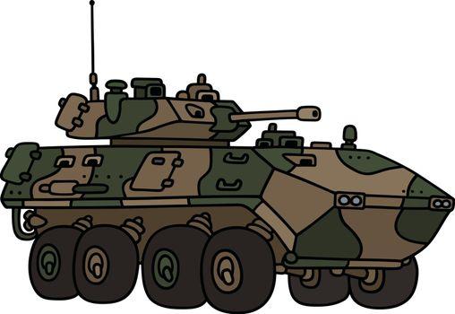 Wheeled armoured vehicle