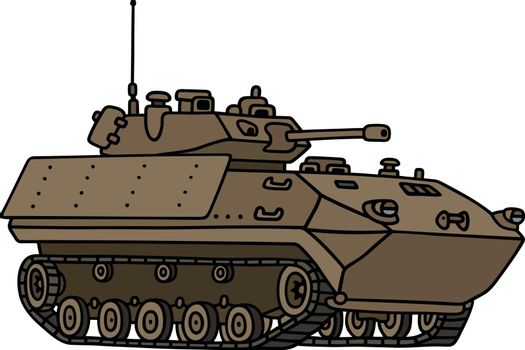 Tracked armoured vehicle