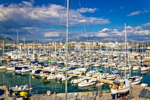 City of Split sailing and yachting harbor