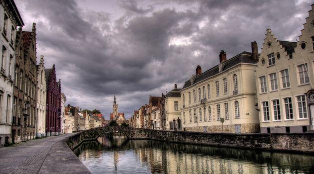 Brugge city in Belgium - beautiful tourism destination in Europe