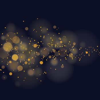 vector glittering stars on bokeh background