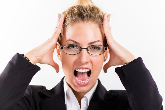 Businesswoman In Stress