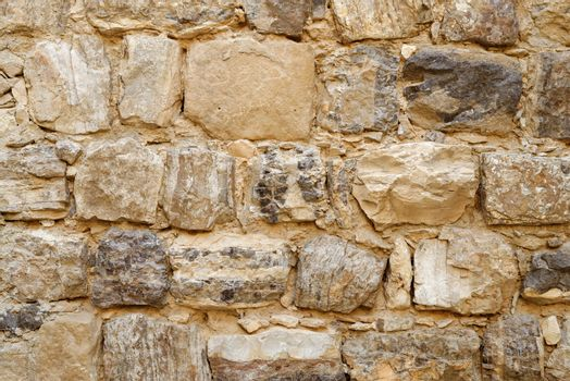 Texture of Medieval castle stone wall