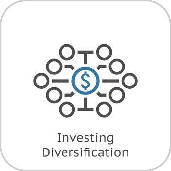 Investing Diversification Icon. Flat Design.