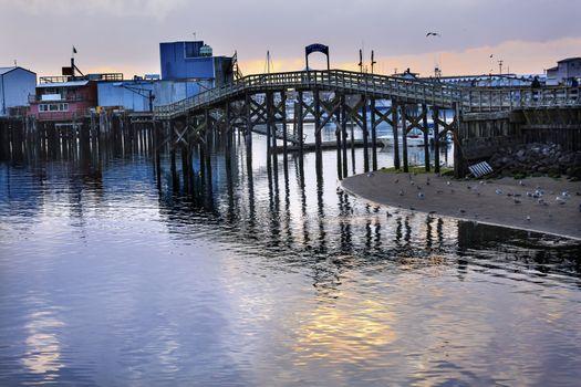 Wooden Bridge Fish Factory Westport Grays Harbor Puget Sound Washington State Pacific Northwest