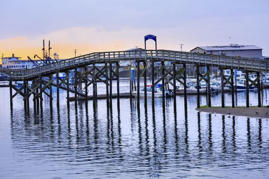 Wooden Bridge Westport Grays Harbor Puget Sound Washington State Pacific Northwest