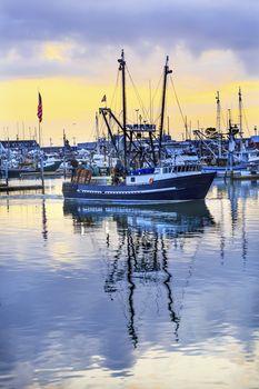 Large Fishing Boat Westport Grays Harbor Puget Sound Washington State Pacific Northwest