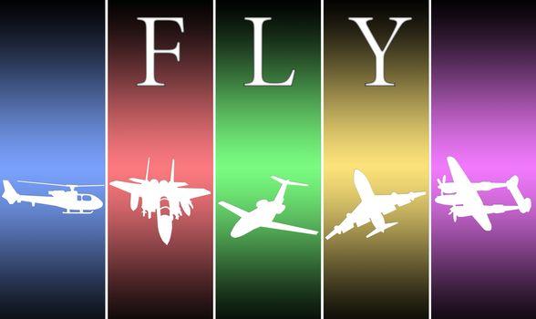 Illustration on air transport