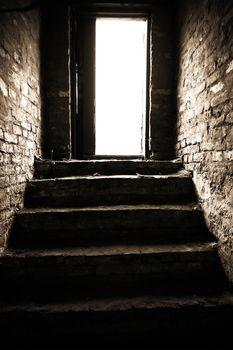 a narrow passage
