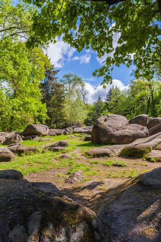 landscape, large rocky boulders