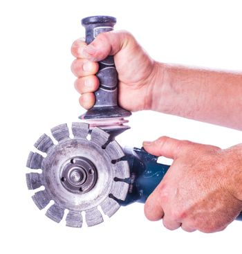 circular saw with two hands