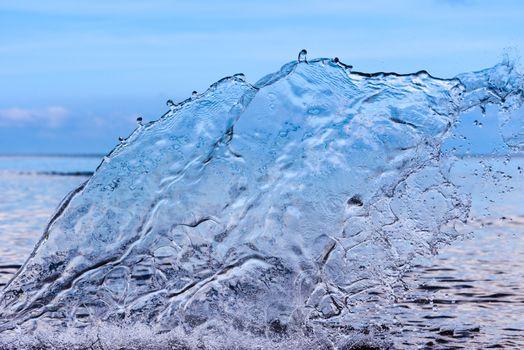 Transparent water splash